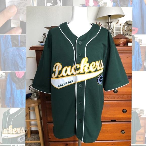 4e9007c7039 NFL Players INC Shirts   Green Bay Packers Favre Nfl Baseball Jersey ...